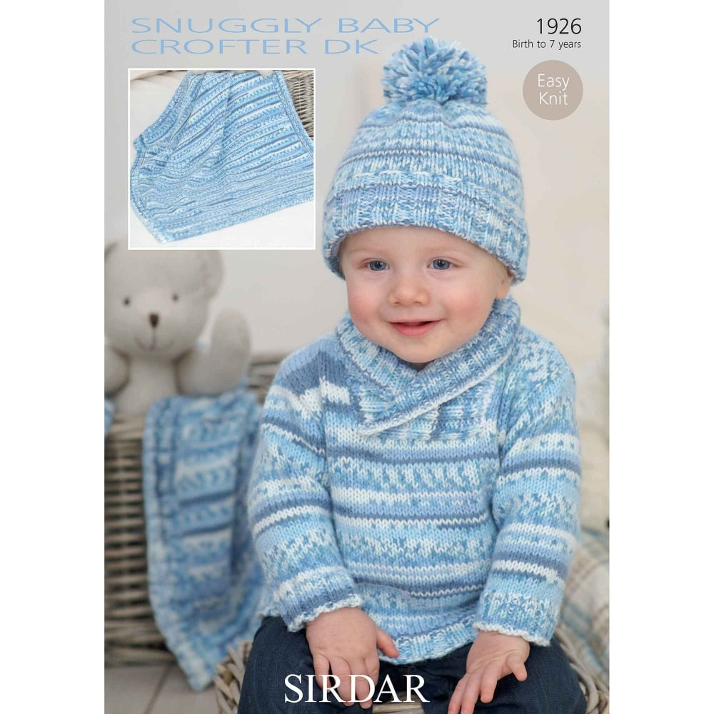 Sirdar Baby Crofter Dk Knitting Pattern 1926 Closs Amp Hamblin