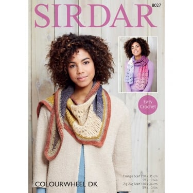 Sirdar Colourwheel DK Knitting Pattern 8027