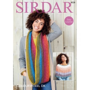Sirdar Colourwheel DK Knitting Pattern 8028