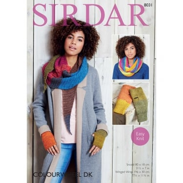 Sirdar Colourwheel DK Knitting Pattern 8031