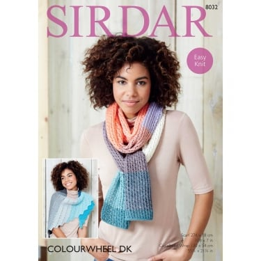 Sirdar Colourwheel DK Knitting Pattern 8032