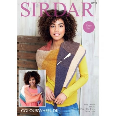 Sirdar Colourwheel DK Knitting Pattern 8033