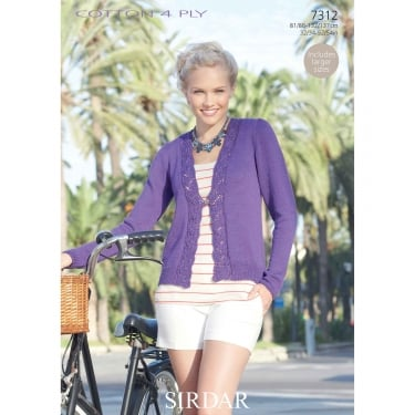 Sirdar Cotton 4 Ply Knitting Pattern 7312