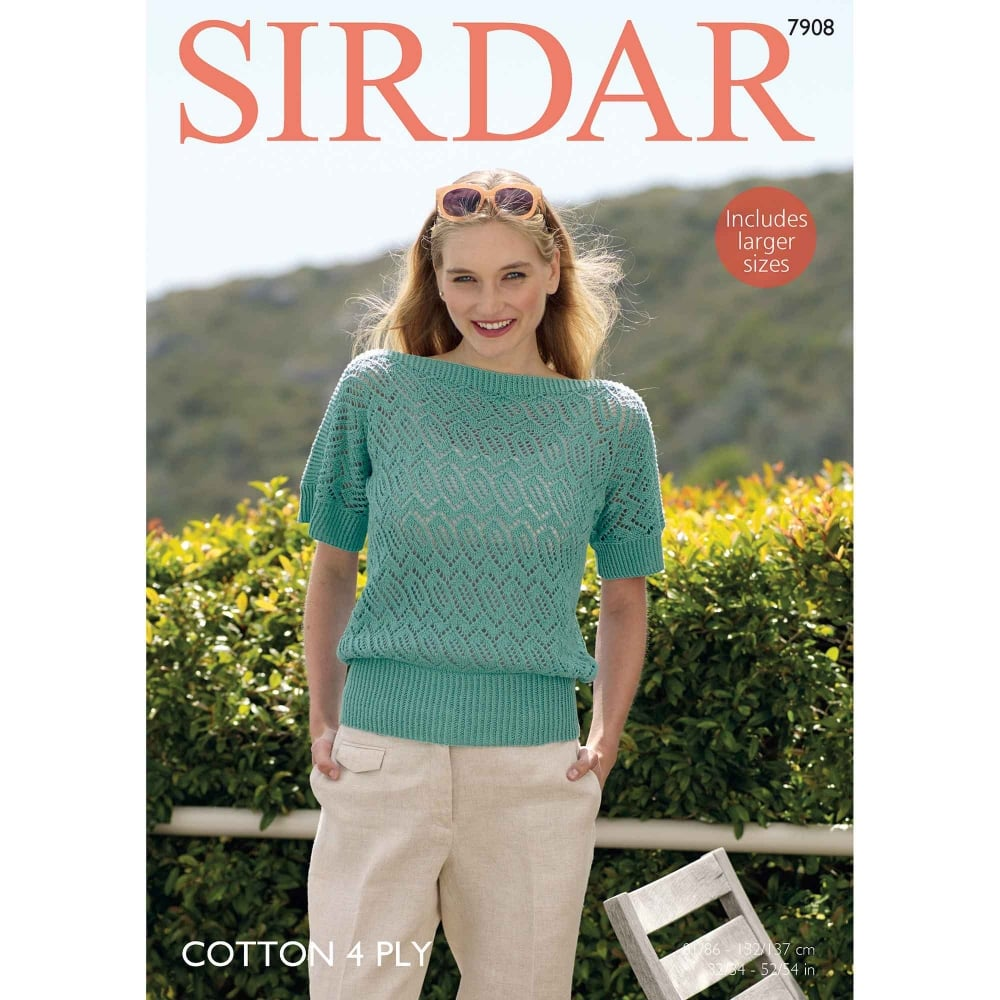 900acd773210 Sirdar Cotton 4 Ply Knitting Pattern 7908
