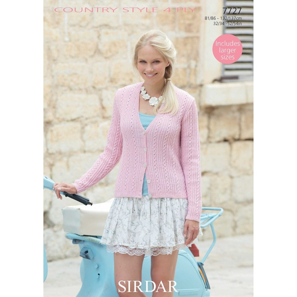 Sirdar Country Style 4 Ply Knitting Pattern 7727 | Closs & Hamblin