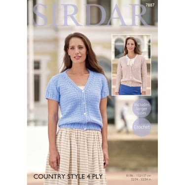 Sirdar Country Style 4 Ply Knitting Pattern 7887