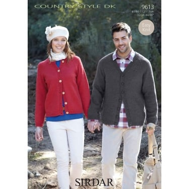 Sirdar Country Style DK Knitting Pattern 9613