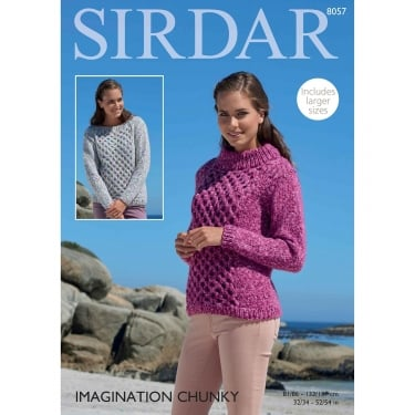 Sirdar Imagination Chunky Knitting Pattern 8057