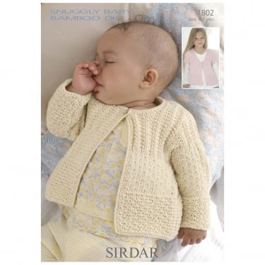 Sirdar Leaflet 1802 Snuggly Baby Bamboo DK