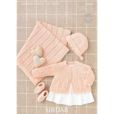 Sirdar Snuggly 4 Ply Knitting Pattern 4508