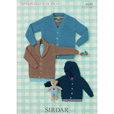 Sirdar Snuggly 4 Ply Knitting Pattern 4640