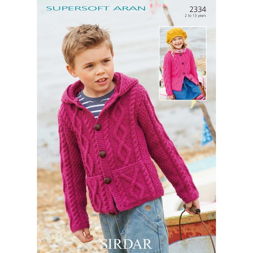 Sirdar Supersoft Aran Knitting Pattern 2334 Closs Hamblin