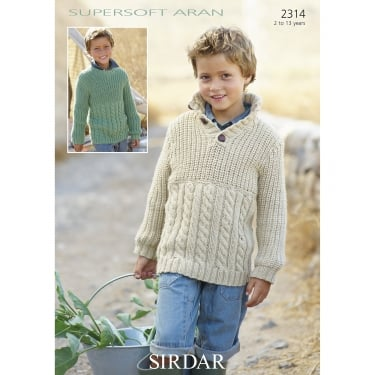 Sirdar Supersoft Aran Leaflet 2314