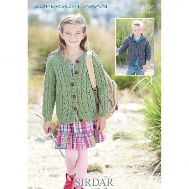 c8476d67c935 Sirdar Supersoft Aran Leaflet 2434