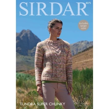 Sirdar Tundra Knitting Pattern 8075