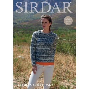 Sirdar Tundra Knitting Pattern 8077