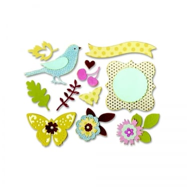 Sizzix Thinlits Floral Wreath Die Set