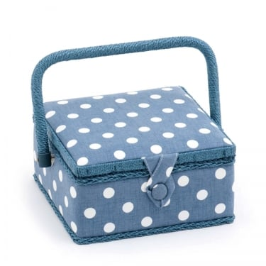 Small Denim Spot Sewing Box