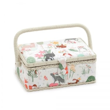 Small Woodland Sewing Basket