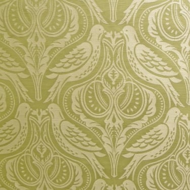 SMD Textiles Song Thrush Palm Green Curtain Fabric