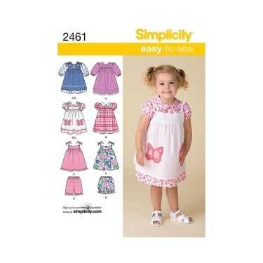 Smplicity Sewing Pattern 2461 Size 6 Months - 4 Years