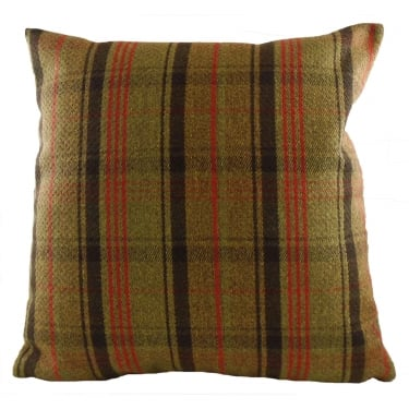 Stirling Check Hunter Cushion