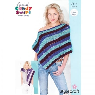Stylecraft Candy Swirl Knitting Pattern 9417