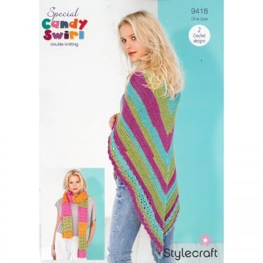 Stylecraft Candy Swirl Knitting Pattern 9418