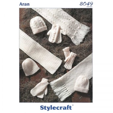 Stylecraft Special Aran Knitting Pattern 8049