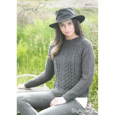 Stylecraft Special Aran Knitting Pattern 9075