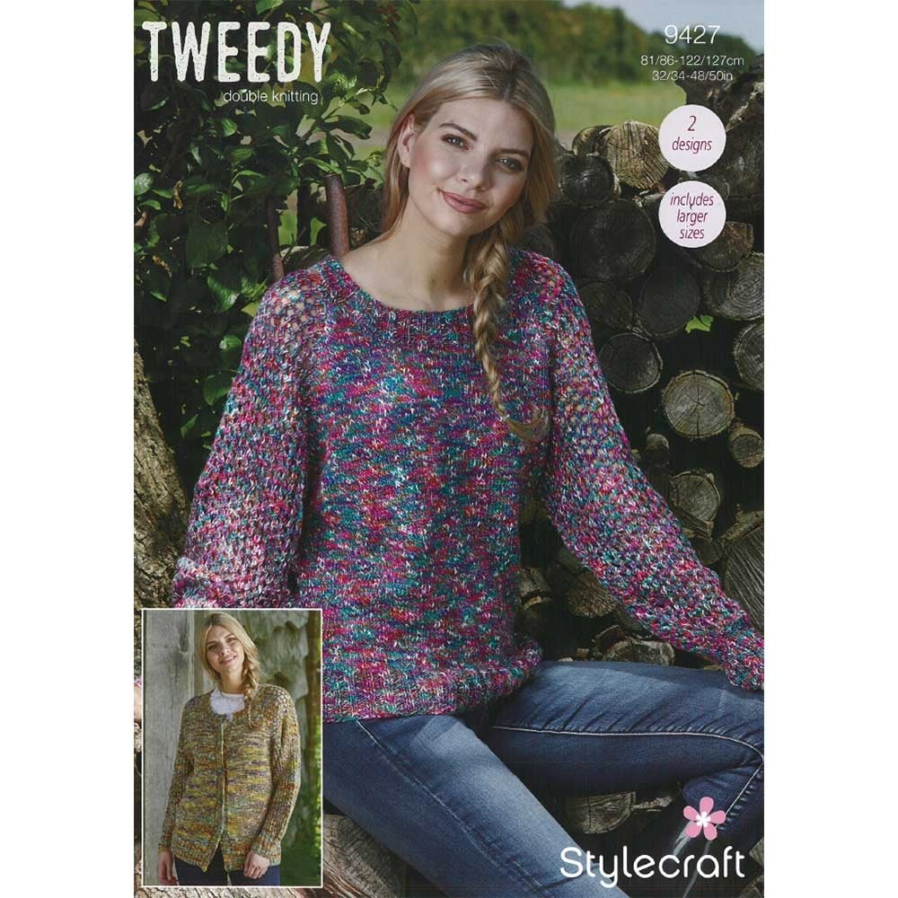 Stylecraft Tweedy DK Knitting Pattern 9427 | Closs & Hamblin