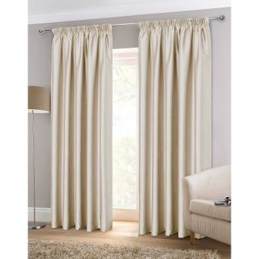 Faux Silk Natural Ready Made Curtains