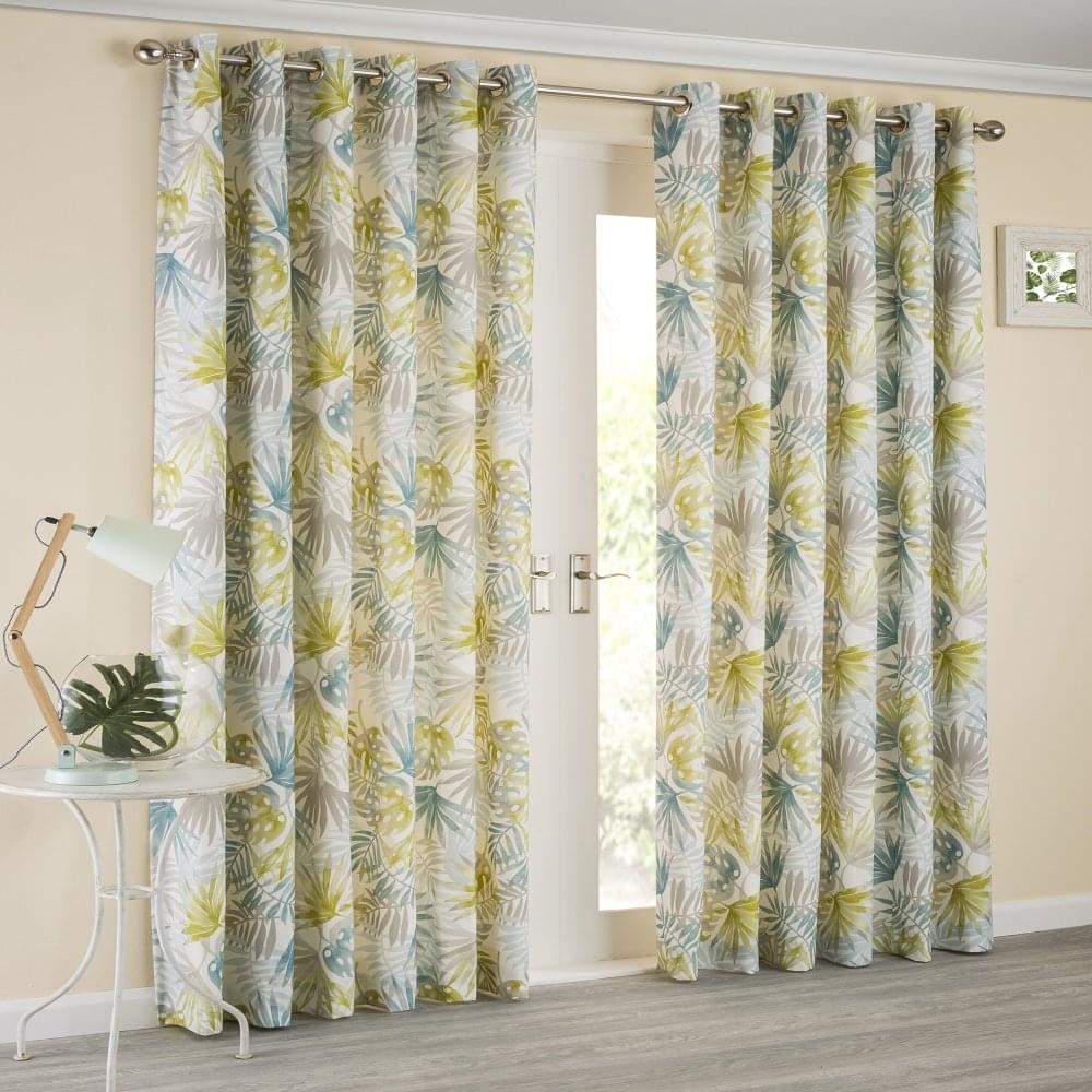Sundour Paradise Teal Ready Made Curtains Home From