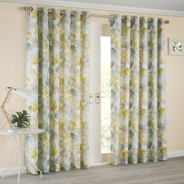 Paradise Teal Ready Made Curtains