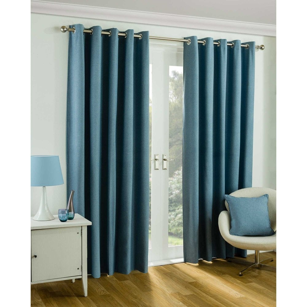 twilight blue ready made eyelet curtains closs hamblin. Black Bedroom Furniture Sets. Home Design Ideas