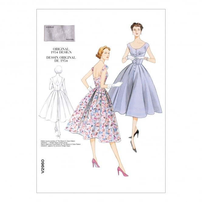 Vintage Vogue Sewing Pattern 2960 DD Size 12 - 18