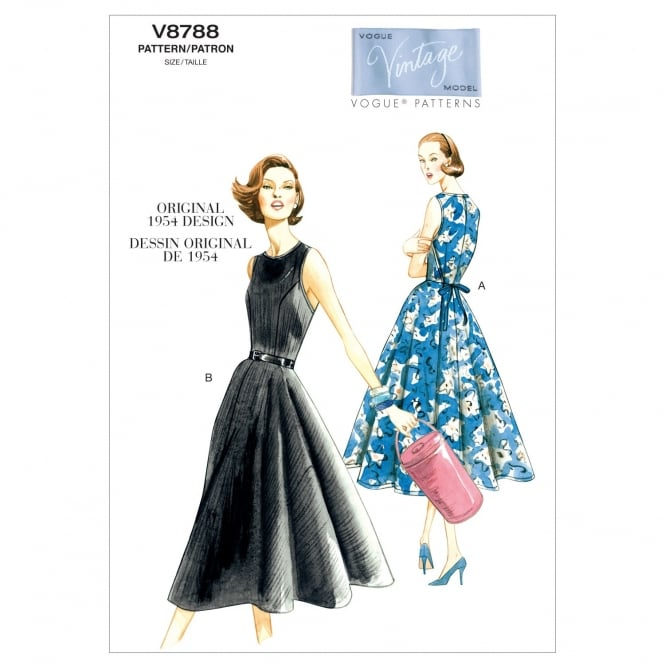 Vogue Vintage Sewing Pattern 8788 Size 6-14