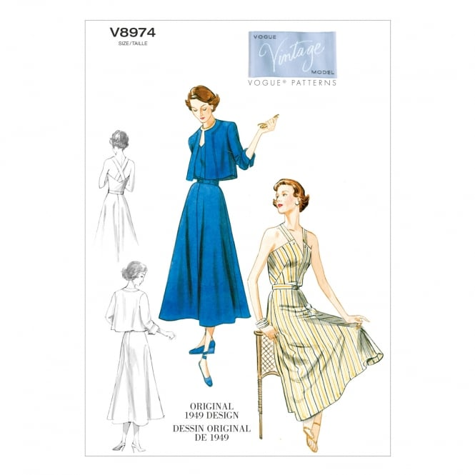 Vogue Vintage Sewing Pattern 8974 Size 6-14