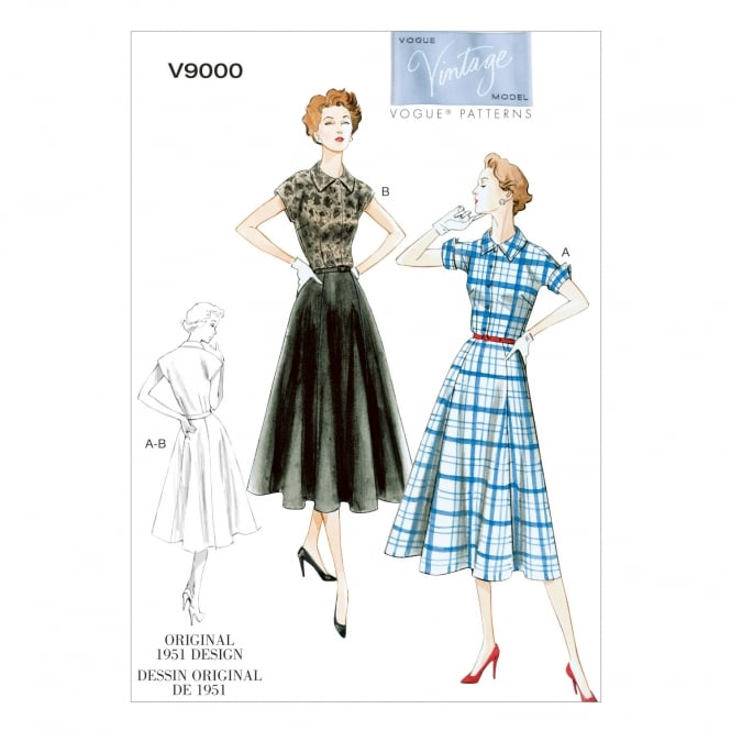 Vogue Vintage Sewing Pattern 9000 F5 Size 16 - 24