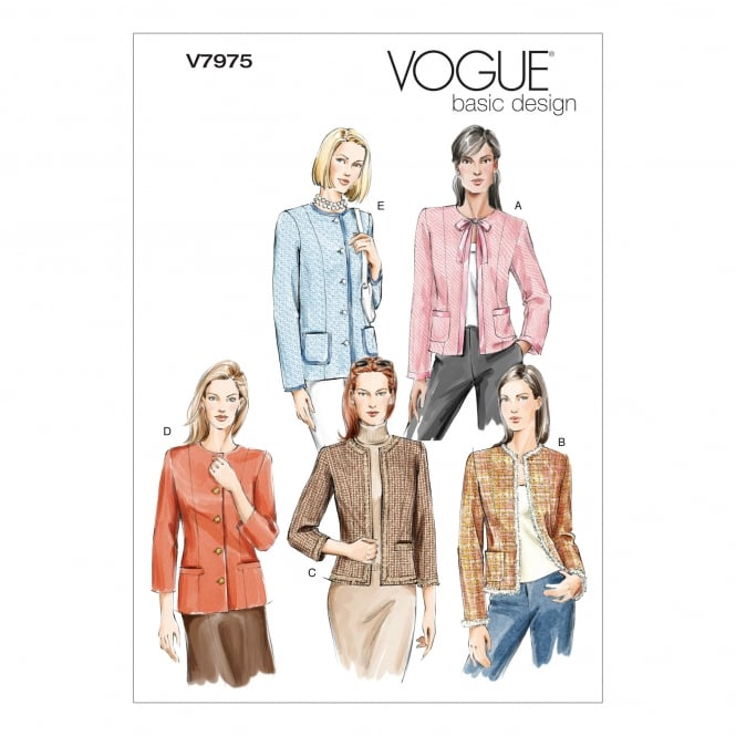 Vogue Sewing Pattern 7975 A Size 6 - 10