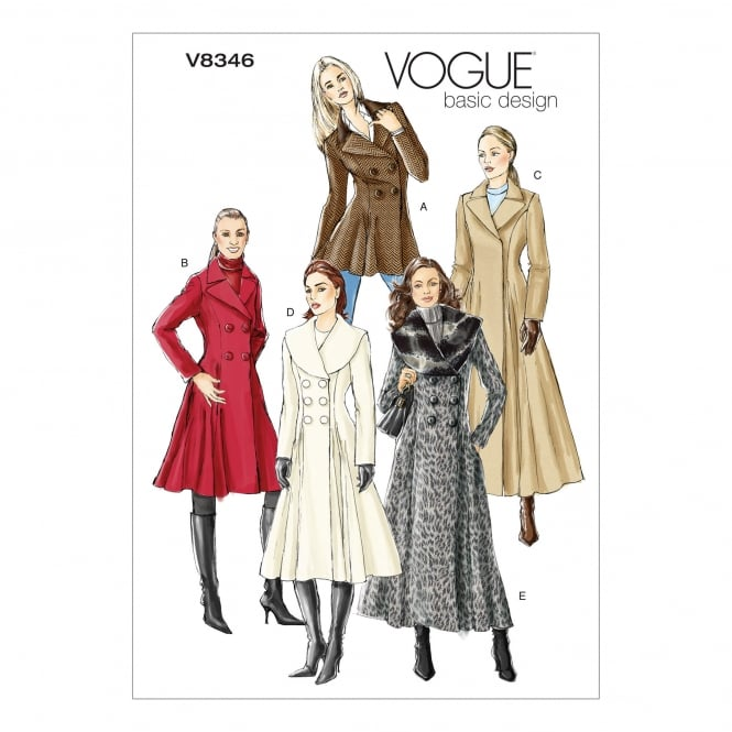 Vogue Sewing Pattern 8346 A Size 6 - 10