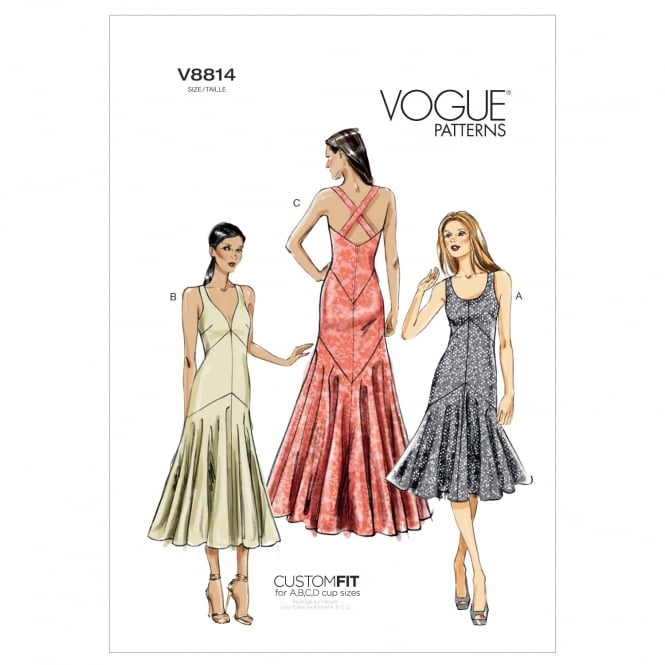 Vogue Sewing Pattern 8814 A5 Size 6-14