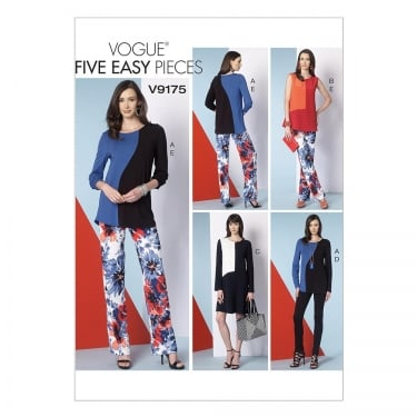 Vogue Sewing Pattern 9175 E5 Size 14 - 22