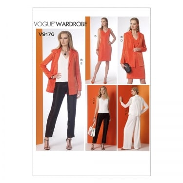 Vogue Sewing Pattern 9176 E5 Size 14 - 22