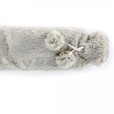 Grey Fur Extra Long Hot Water Bottle
