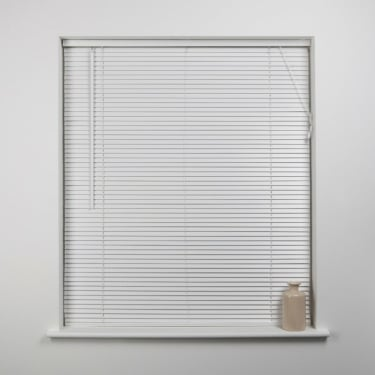 White 27mm Wood Venetian Blind