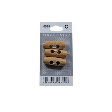 Wooden Toggle Buttons 0588 (Pack/3)