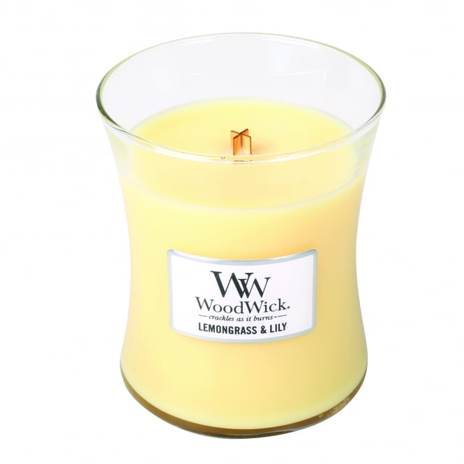 Woodwick Medium Jar Candle - Lemongrass & Lily