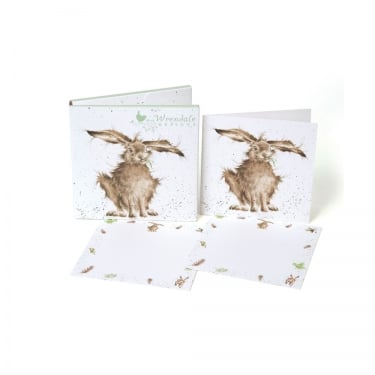 Wrendale Designs Hare Brained Notecard 12 Pack