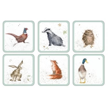 Wrendale Square Coasters - Set of 6